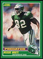 Football NFL 1989 Score #321 Reggie White P Eagles