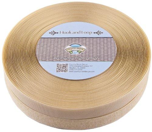 Country Brook Design | Beige Sew on Hook and Loop (1 inch, 5 yards)