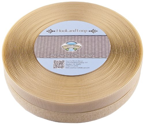Country Brook Design | Beige Sew on Hook and Loop (1 inch, 25 yards) by Country Brook Design