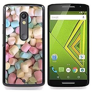 Jordan Colourful Shop - Marshmallow Sweets Candy Pastel Color For Motorola Verizon DROID MAXX 2 / Moto X Play - < Personalizado negro cubierta de la caja de pl??stico > -