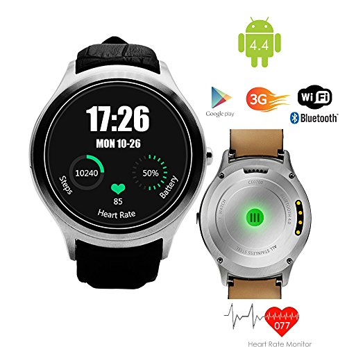 Indigi 3G Smart Watch Cell Phone Android 4.4 WiFi GPS Google PlayStore Unlocked! by inDigi