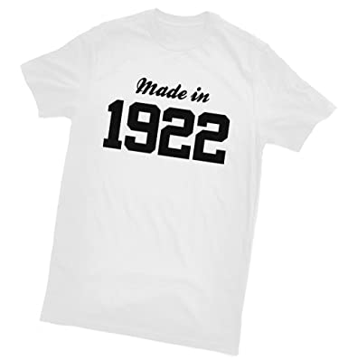 Made In 1922 T Shirt Fun Birthday Gift Wrapping And Gift Message