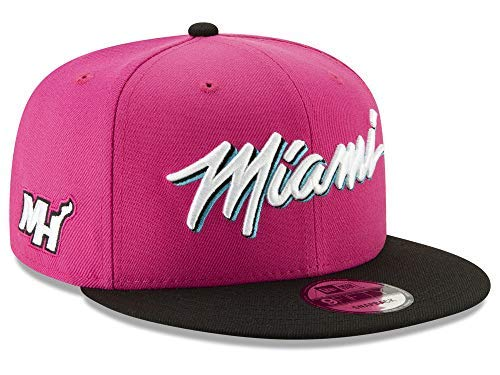 New Era Miami Heat Alternate City Edition On-Court 9FIFTY Snapback Adjustable Hat/Cap