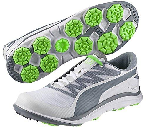 PUMA Men's biodrive Golf Shoe, Quicksilver/Black, 8 M US