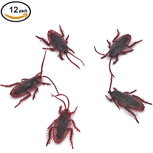 Price comparison product image MiL Fake Roaches Prank Novelty Cockroach Bugs Look Real (12pcs)