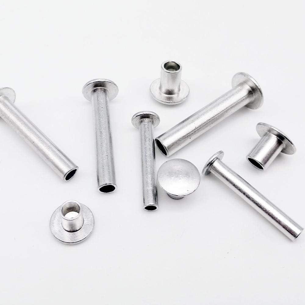 Color : M6 10pcs, Size : 22mm DFSM 10//50pcs M2 M2.5 M3 M4 M5 M6 Aluminum Round Flat Button Truss Head Half Semi Hollow Rivet Diameter 2mm 3mm 4mm 5mm 6mm