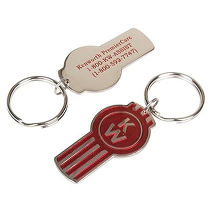 BD&A Kenworth Red & Silver Pewter Key Tag Keychain