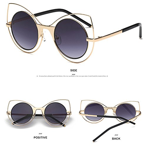 Ojo Gato Sol Sol Elegantes Protección Polarizadas De Marea Gafas Gafas De De De De UV Cajas pqTqPXt