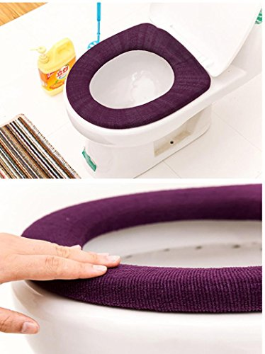 Iuhan 2Pcs Bathroom Toilet Seat Closestool Washable Soft Warmer Mat Cover Pad Cushion❤️Random Color❤️ (2) by Iuhan (Image #3)