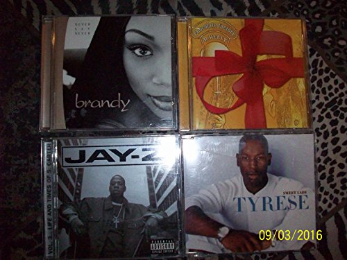 4 CD SET - R. Kelly: Chocolate Factory, Brandy: Never Say Never, Jay-Z: Vol.3... Life And Times Of S. Carter, Tyrese: Sweet Lady