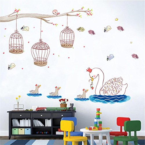 SanCanSn Home Interior,DIY Cartoon Animal Removable Wall Decal Family Home Sticker Mural Art Home (Decorating Western Style Ideas)