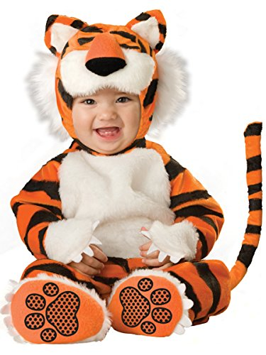 Deluxe White Jumpsuit Costumes (InCharacter Costumes Baby's Tiger Deluxe Costume, Orange/Black/White, Small)