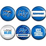 WinCraft Middle Tennessee State Official NCAA Metal Button Badge Pin Set 6 Pack 991164