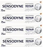 Sensodyne Repair & Protect Whitening Toothpaste - Powered by NOVAMIN - 75ml - Pack of 4