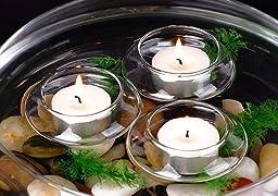 Candles4Less - Floating Tea Light Candle Holders (1 Dozen)
