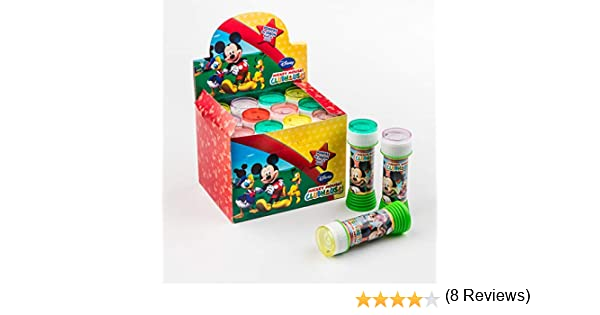 SUPERBOOM - Caja Pomperos de Burbujas de Jabón de Mickey Mouse - 12 Unidades de 60 mililitros: Amazon.es: Juguetes y juegos