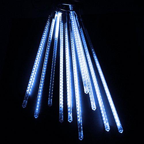 電光ホーム イルミネーション つらら スノーフォール ライト 80cm 10本 (ホワイト) B01MQHJ6Z6 16470 ホワイト ホワイト