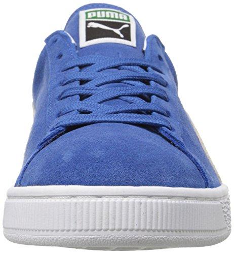 Puma Suede Classic Plus, Zapatillas de Cuero Mujer Azul (Olympian Blue-White)