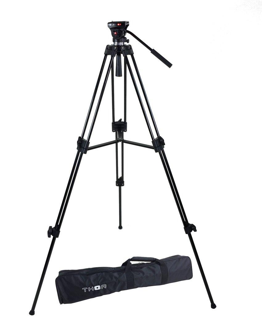 ePhoto Thor DVK-2803A Head Duty Fluid Head Video DSLR Camera Tripod Kit by Thor