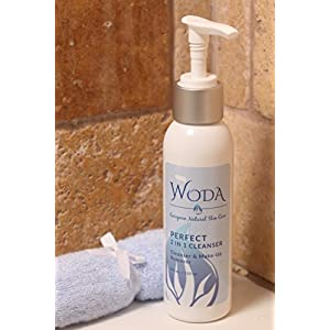 WODA Perfect 2-in-1 Cleanser - Hydrates, Make-up Removing & Moisturizing - Gentle & Perfect For All Skin Types - Organic & Natural Ingredients - 4oz
