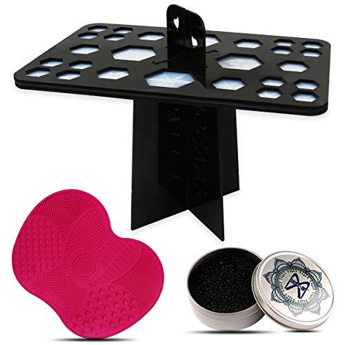 Makeup Brush Drying Rack, 26 Holes Folding Brush Holder Brus