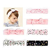 Ezerbery 6 pcs Baby Headbands Knotted Turban HairBows Girl's Hairbands for Newborn,Toddler and Childrens