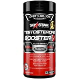 Six Star Testosterone Booster Supplement, Extreme Strength, Enhances Training Performance, Scientifically Researched, Maintain Peak Testosterone, 60 Caplets, White