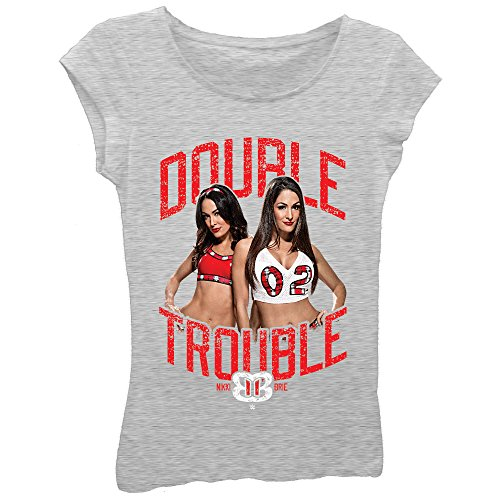 Nikki Brie Bella Twins Double Trouble WWE Girls Kids T-Shirt-YXL by Freeze