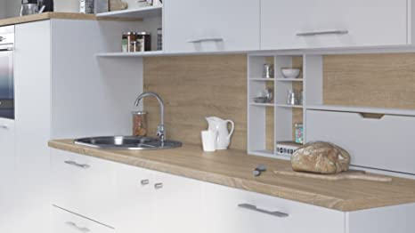 Egger contemporaneo grigio effetto quercia Bardolino cucina ...