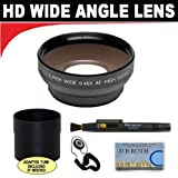 0.5x Digital Wide Angle Macro Professional Series Lens + Lens Adapter Tube / Rings (If Needed) + Lenspen + Lens Cap Keeper + DB ROTH Micro Fiber Cloth For The Panasonic V700M, V700 Digital Camcorder