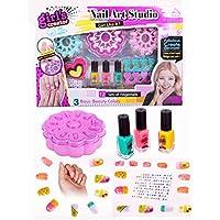 Zest 4 Toyz Nail Art Studio Manicure Set for Girls    Nail Design Studio Girl's Play Set