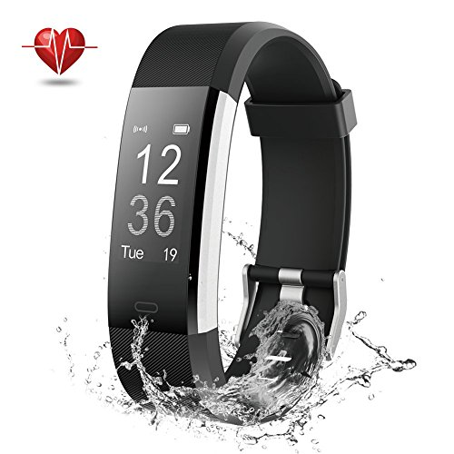 Fitness Tracker, NOVETE Bluetooth 4.0 Heart Rate Monitor Bracelet, IP67 Waterproof, Touch Screen, Wireless Smart Wristband, Pedometer Sports Activity Tracker Smart Watch for Android and IOS Smartphone (And Fitness Sports)