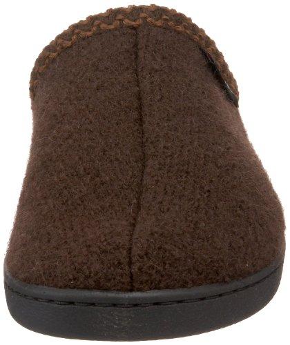 Haflinger Unisex Bij Gekookte Wol Harde Zool Slipper Chocolade