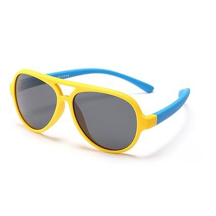 Niños Gran Oval Personalidad Niños Gafas de Sol Lentes polarizadas Protección UV Niños y niñas de