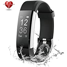 NOVETE Fitness Tracker, Bluetooth 4.0 Heart Rate Monitor Bracelet, IP67 Waterproof, Touch Screen, Smart Wristband, Pedometer Sports Activity Tracker Smart Watch for Android and IOS Smartphone