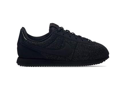separation shoes 0bba1 9dede Nike Cortez Basic Txt Se (GS), Chaussures de Running Compétition Femme, Noir