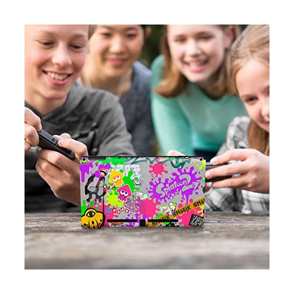 "Controller Gear Nintendo Switch Skin & Screen Protector Set, Officially Licensed By Nintendo - Splatoon 2 ""Stick Em' Up"" - Nintendo Switch 9"