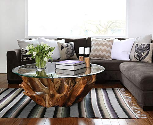 Bassett Glass | 36'' Round Tempered Glass Table Top - 1/2'' Thick - Beveled Polished Edge by Bassett Glass (Image #1)