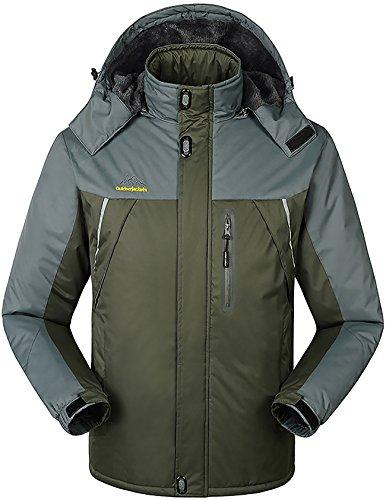 Men's Outdoor Waterproof Jacket Rock Climbing Hood Coat Work Utility Outerwear Army Green US XXXX-Large/Asian 8XL Review