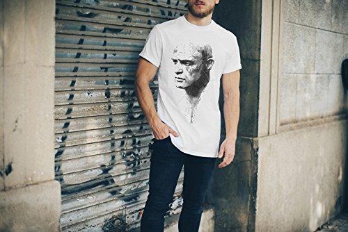 Marlon Brando Apocalypse Now T-Shirt Herren, weiß mit Aufdruck