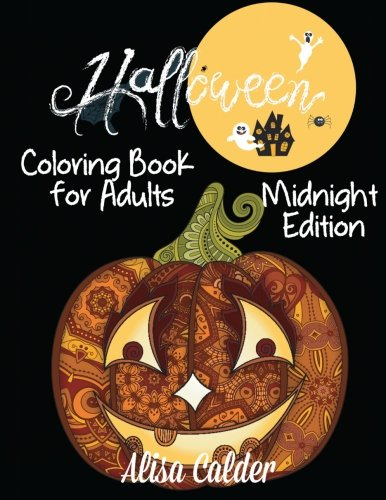 Halloween Adult Coloring Black Background: Midnight Edition Coloring Book (Black Background Coloring Books)]()