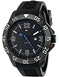 Mens 1790983 Cool Sport Black Ion-Plated Case Black Silicone Strap Watch