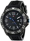 Tommy Hilfiger Men's 1790983 Cool Sport Black Ion-Plated Case Black Silicone Strap Watch