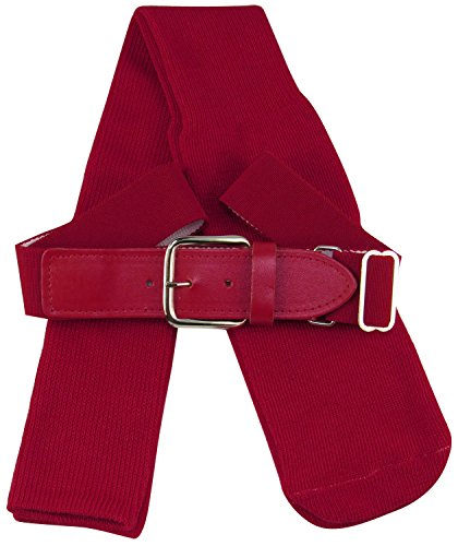 TCK Sports Baseball/Softball Adult Belt & Socks Combo Set (Cardinal, - Belt Baseball Cardinal