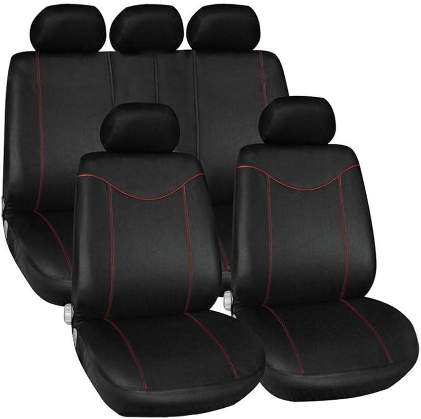 Cinture di Sicurezza Posteriori airbag sedili Anteriori bracciolo Laterale Set Copri sedili con Aperture per poggiatesta rmg-distribuzione Coprisedili per Auto 5 posti