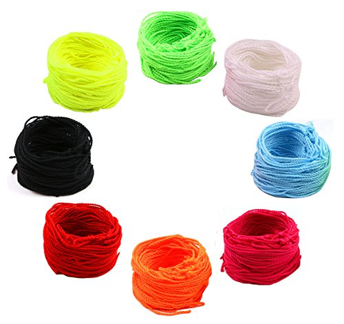 Penta Angel 80 Yoyo String (10 Each - Florescent Lime Green, Yellow, Orange,Blue ,Rose ,Red ,Black and White) (String Angel)