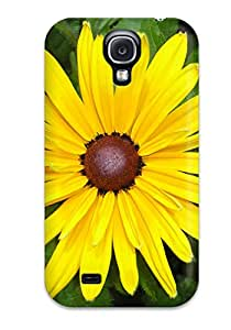 Best 3125470K42901048 Hot Fashion Design Case Cover For Galaxy S4 Protective Case (yellow Flowers)