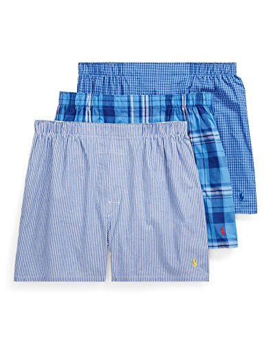 Polo Ralph Lauren Classic Woven Boxers 3-Pack, L, Milford Plaid (Classic Mens Plaid Boxer)