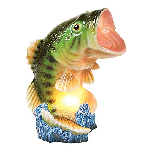 What on Earth Wide Mouth Bass Table Lamp - Lifelike Fish Shaped Accent Light -