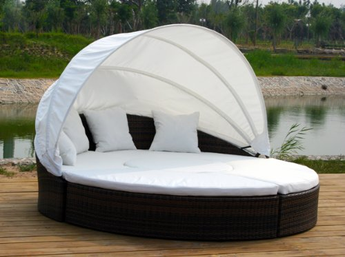 Amazon.de: XXL RATTAN LOUNGE GARTENMÖBEL SONNENINSEL \